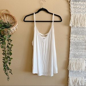 AE Lace Front White Tank